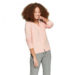 NWT A New Day Any Day Cardigan Sweater Medium Pink